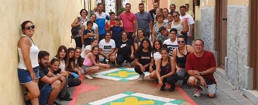 Elaboración de las alfombras del Corpus Christi