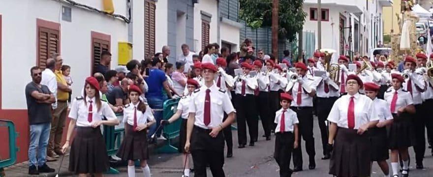 Agrupación Musical y Majorettes La Salle de Agüimes estuvo presente en la Fiestas de los Arbejales en Teror