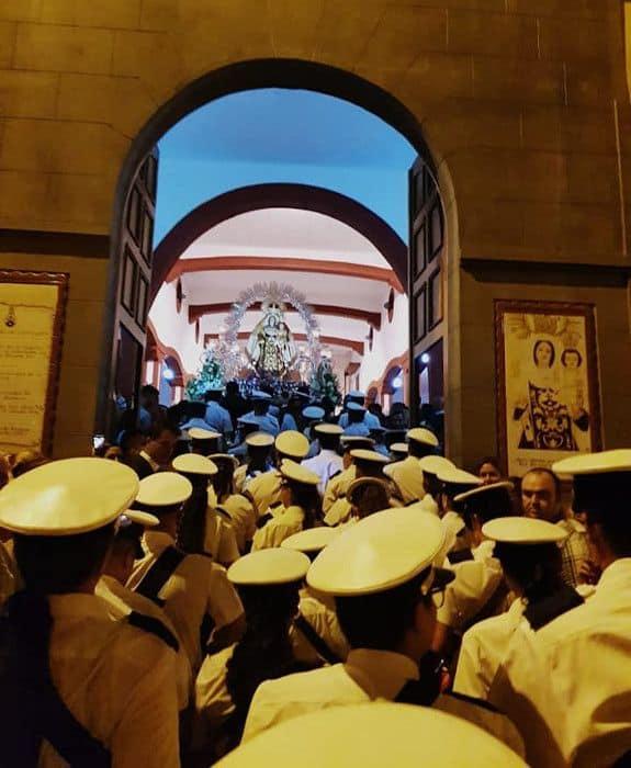 Agrupación Musical en la procesión de La Isleta La Terrestre 2018
