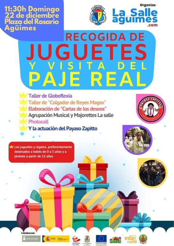 Visita del Paje Real y recogida de juguetes 2019