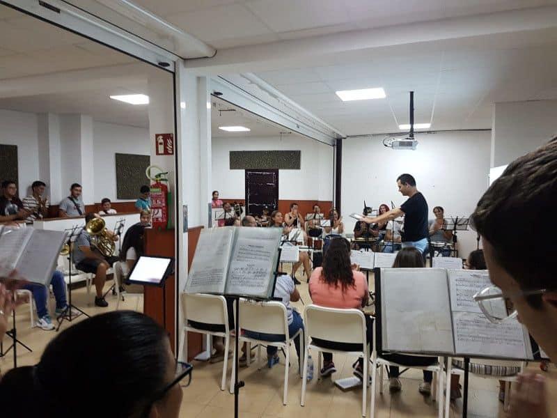 La Agrupación Musical La Salle preparando nueva obra con Yeray Vázquez García