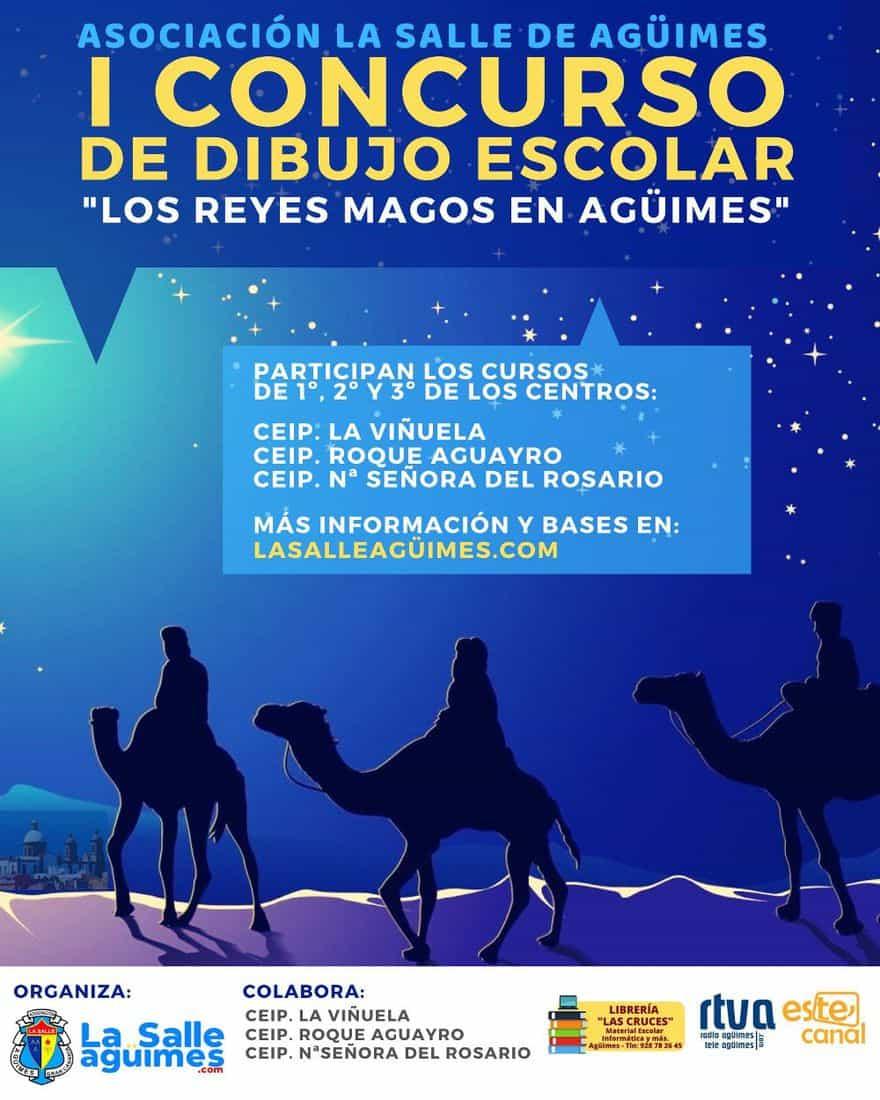 """1º Concurso de Dibujo Escolar """"Los Reyes Magos en Agüimes"""""""