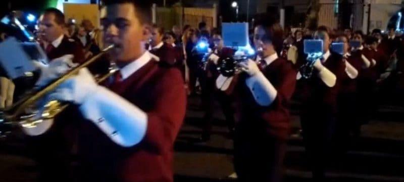La Agrupación Musical y Majorettes estuvo en la procesión de Arinaga