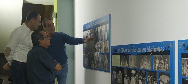 Visita de Óscar Hernández, alcalde de Agüimes, a La Salle