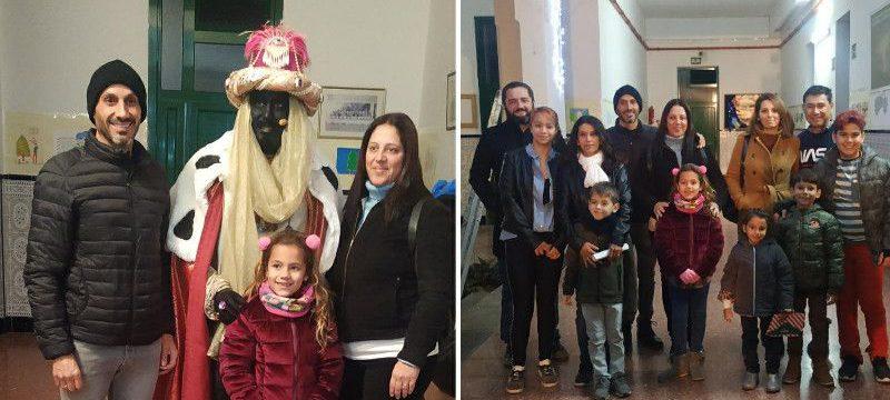 Los niños y niñas ganadores del I Concurso de Dibujo Escolar «Los Reyes Magos en Agüimes» conocieron a Baltasar