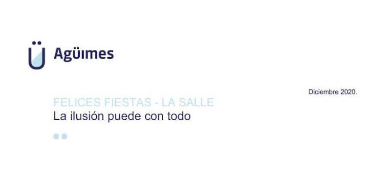 Felicitación a la Asociación La Salle del alcalde de Agüimes, Óscar Hernández
