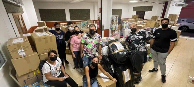 Agüimes se vuelca en la campaña solidaria con La Palma