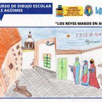 Primer premio del Roque Aguayro del Primer Concurso Escolar de Dibujo de La Salle de Agüimes